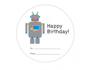 Robot Fill-in Gift Label